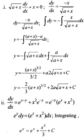 Plus Two Maths Chapter Wise Questions and Answers Chapter 9 Differential Equations 16