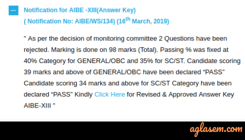 AIBE 2019 Answer Key