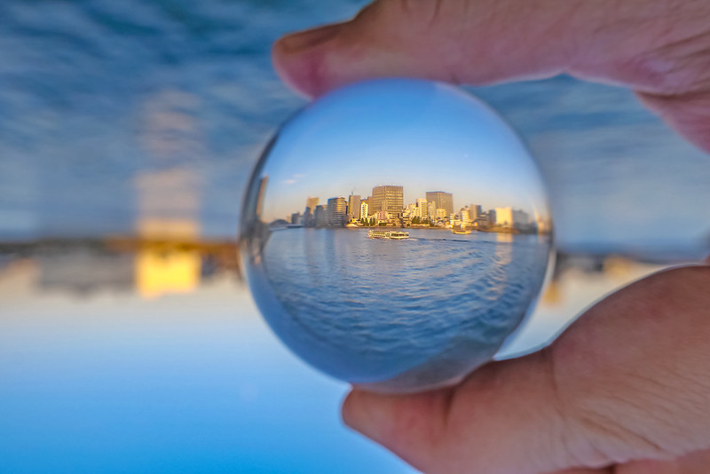 reverse lens ball photography