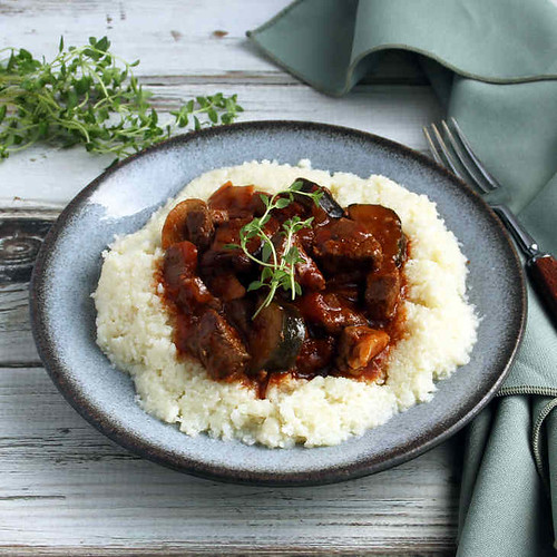 Keto Beef Stew Recipe with Cauliflower Mash