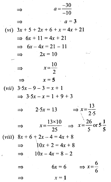 Selina Concise Mathematics Class 6 ICSE Solutions - Simple (Linear) Equations (Including Word Problems) - b3s.