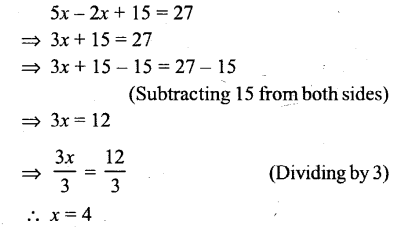 Selina Concise Mathematics Class 6 ICSE Solutions - Simple (Linear) Equations (Including Word Problems) - r31