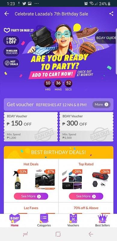 Lazada 7th Birthday Online Sale