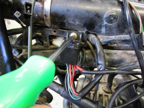 Remove Starter Relay Plug From Frame Bracket