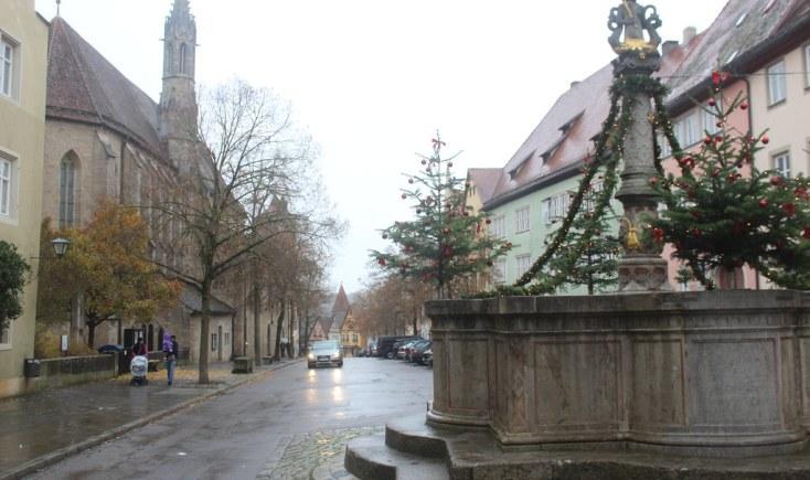 The Franciscan church in Rothenburg ob der Tauber