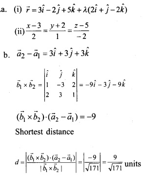Plus Two Maths Chapter Wise Questions and Answers Chapter 11 Three Dimensional Geometry 56