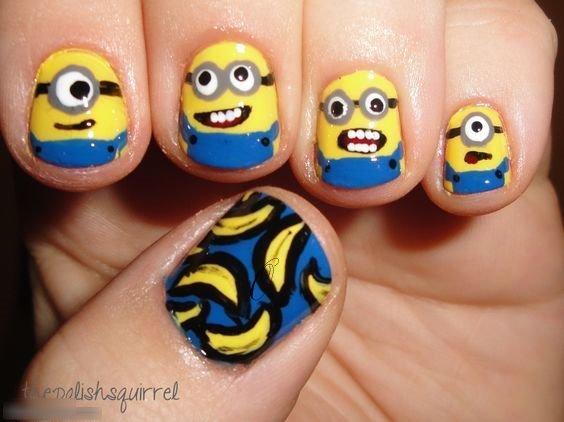smiley nails design happy faces
