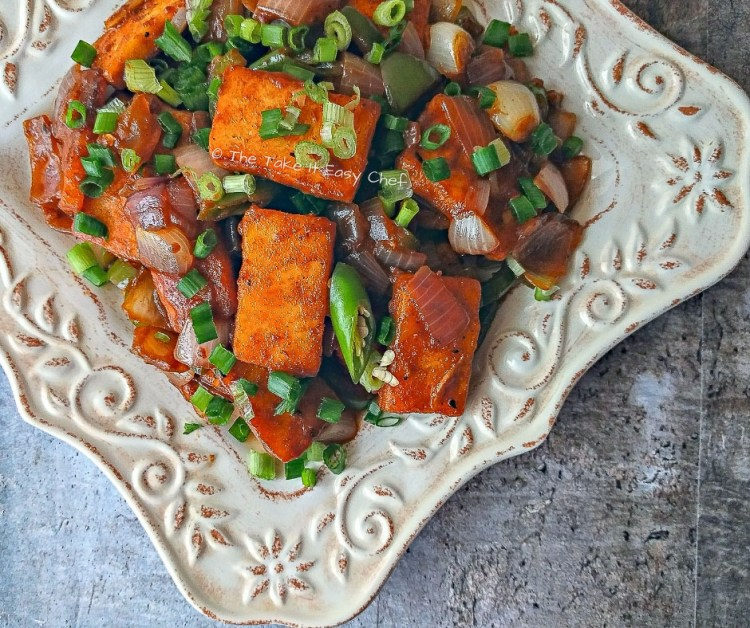 Picture of Chilli Paneer - Spicy Fried Indian Cottage Cheese