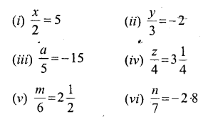 Selina Concise Mathematics Class 6 ICSE Solutions - Simple (Linear) Equations (Including Word Problems) - a4