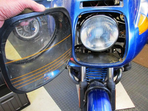 Headlight Cover Removed From Headlight Tunnel Panel