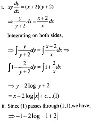 Plus Two Maths Chapter Wise Questions and Answers Chapter 9 Differential Equations 86