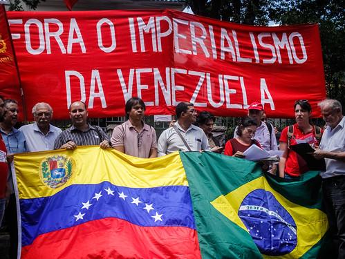 Ato em solidariedade à Venezuela