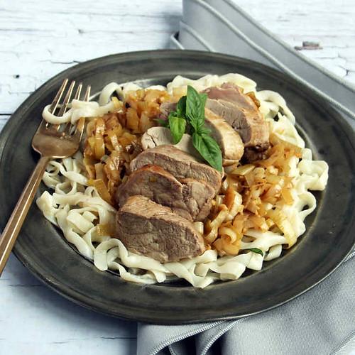 Keto Basil Pork Fettucine Recipe