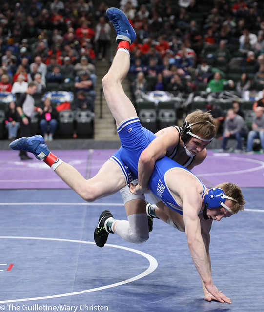 132AA 3rd Place Match - Cade Lundeen (Thief River Falls) 49-2 won by decision over Leighton Rach (Perham) 39-11 (Dec 5-1). 190302BMC3715