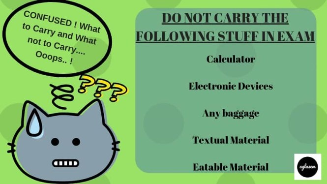 What Not To Carry In CSIF Constable Examination Hall