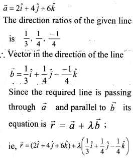 Plus Two Maths Chapter Wise Questions and Answers Chapter 11 Three Dimensional Geometry 14