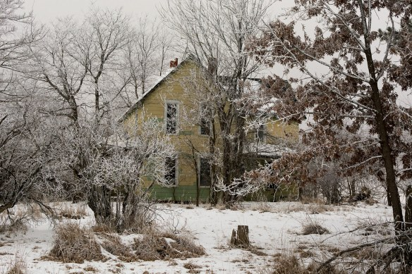 Abandoned Farmhouse and Frost