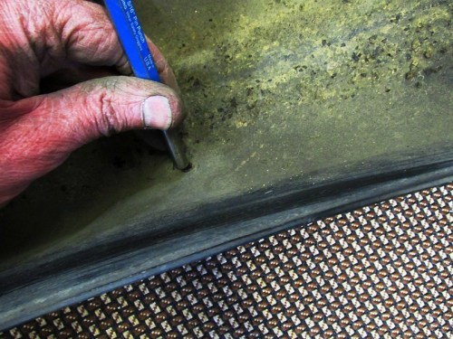 Removing Rear Sub-harness Retainer with Drift