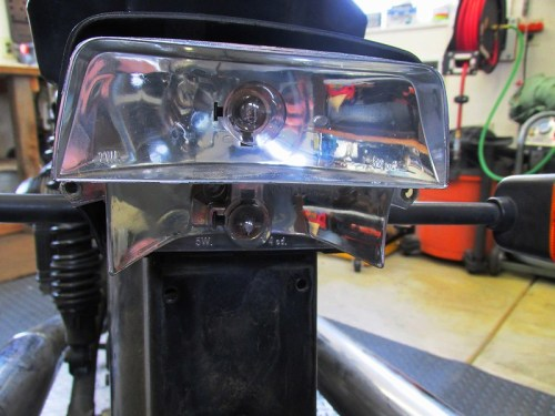 Tail Light Reflector with Stop and Parking Light Bulbs