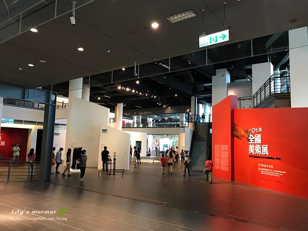 國立台灣美術館裡面的空間,很寬敞明亮舒適。