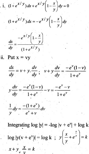 Plus Two Maths Chapter Wise Questions and Answers Chapter 9 Differential Equations 70