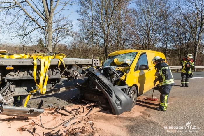 Auffahrunfall A66 Erbenheim 13.02.19