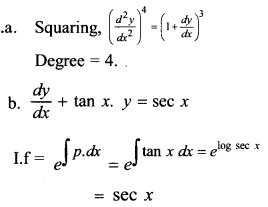 Plus Two Maths Chapter Wise Questions and Answers Chapter 9 Differential Equations 6