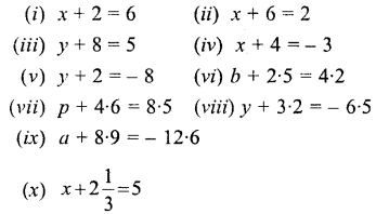 Selina Concise Mathematics Class 6 ICSE Solutions - Simple (Linear) Equations (Including Word Problems) - a1