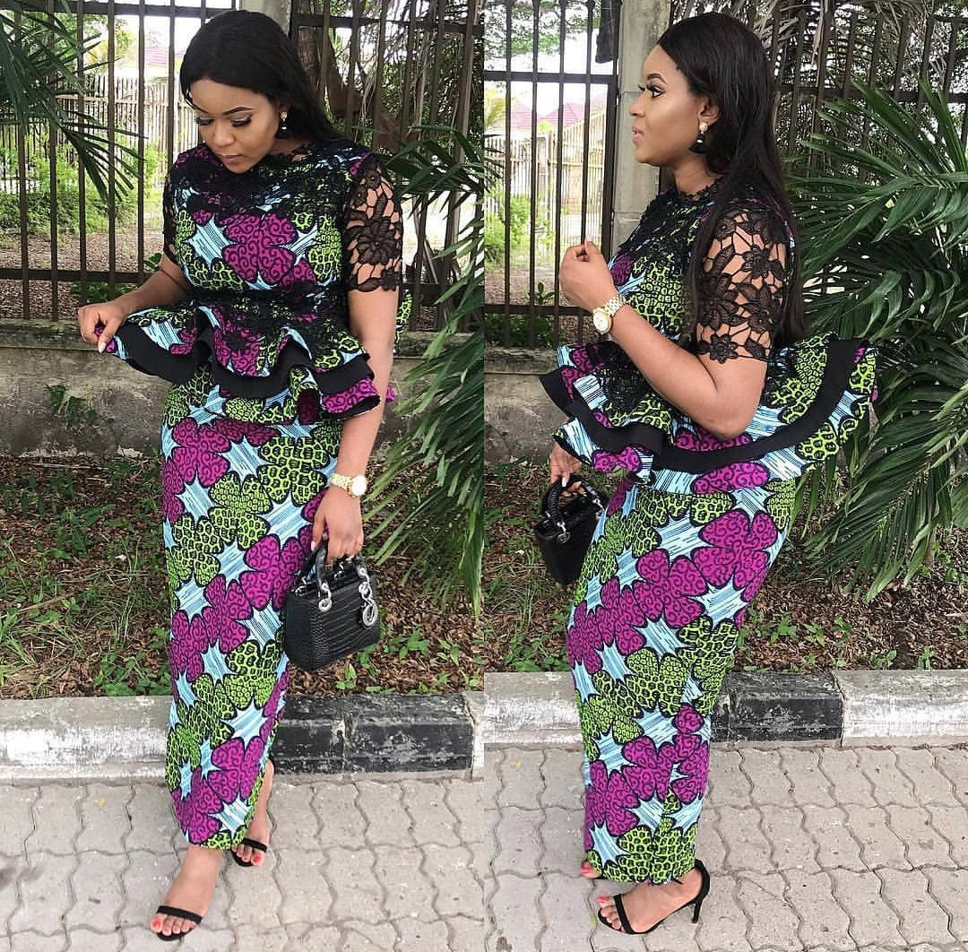 ed66e402430b49 20 Best ankara skirt and blouse styles for real fashionistas .