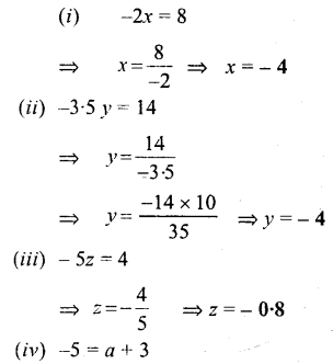 Selina Concise Mathematics Class 6 ICSE Solutions - Simple (Linear) Equations (Including Word Problems) - a5s