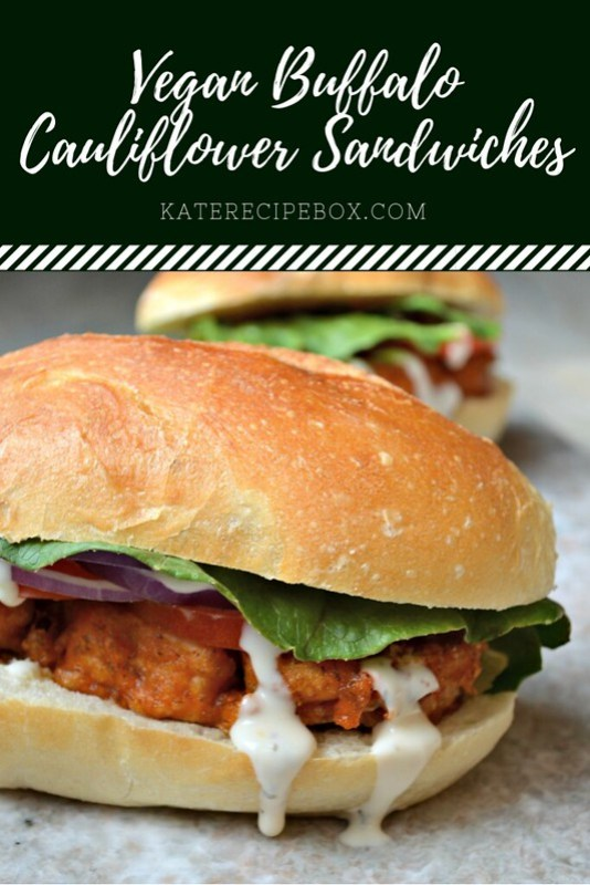 Vegan Buffalo Cauliflower Sandwiches