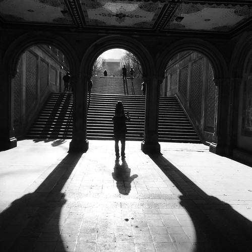 Bethesda Terrace Light and Shadow by DJ Lanphier