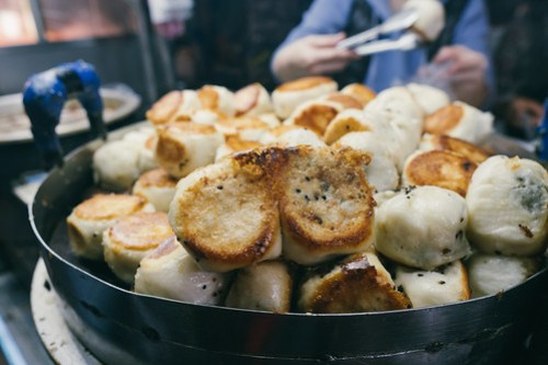Pan fried buns @ Shilin Night Market