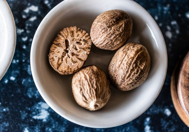 freshly-grated nutmeg is far more aromatic and flavorful than pre-ground