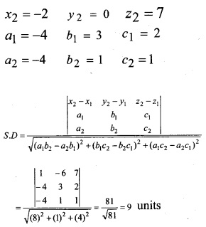 Plus Two Maths Chapter Wise Questions and Answers Chapter 11 Three Dimensional Geometry 54