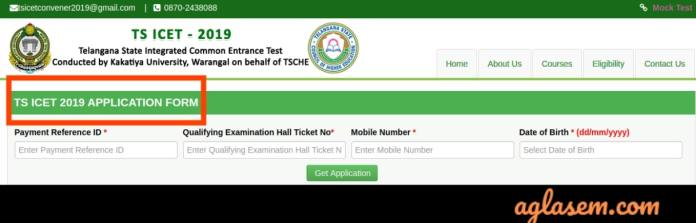 TS ICET 2019 Application Form