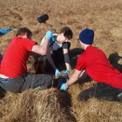 Collecting peat cores