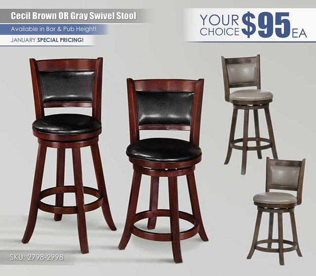 Brown OR Gray Swivel January Special_2798-2998