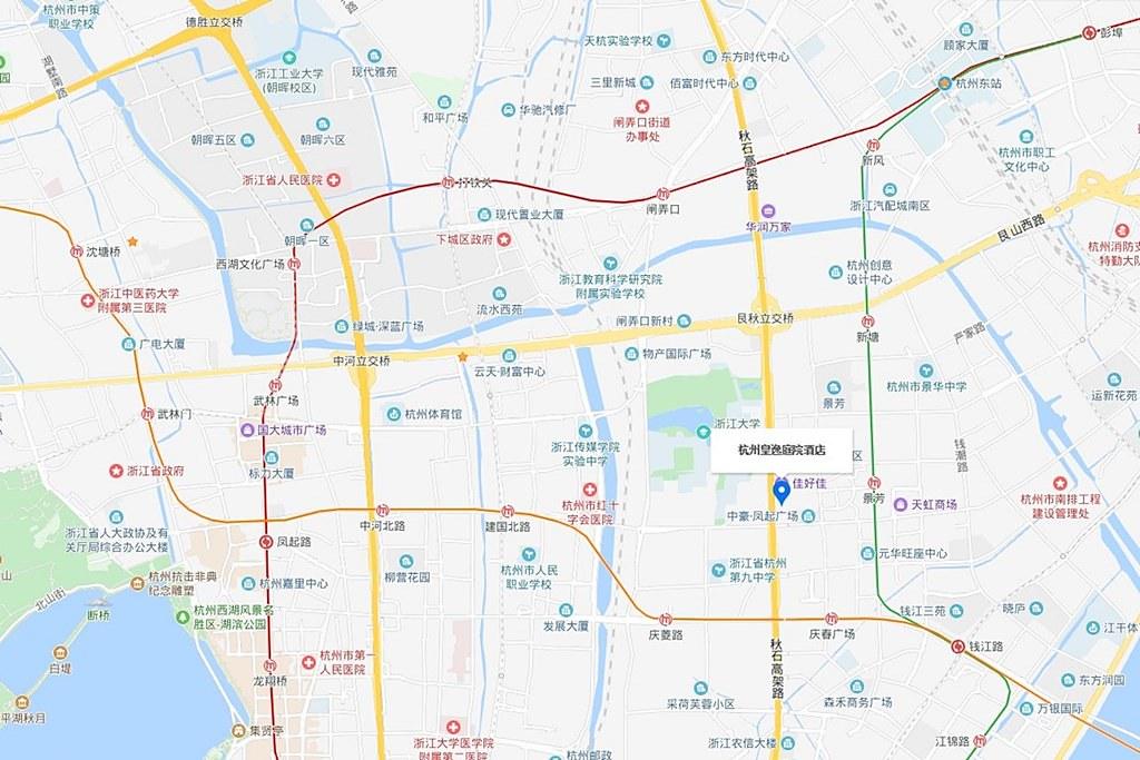 Hangzhou Cosy Park Hotel Map