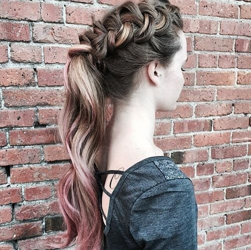 French Braid Ponytail Ideas 2019