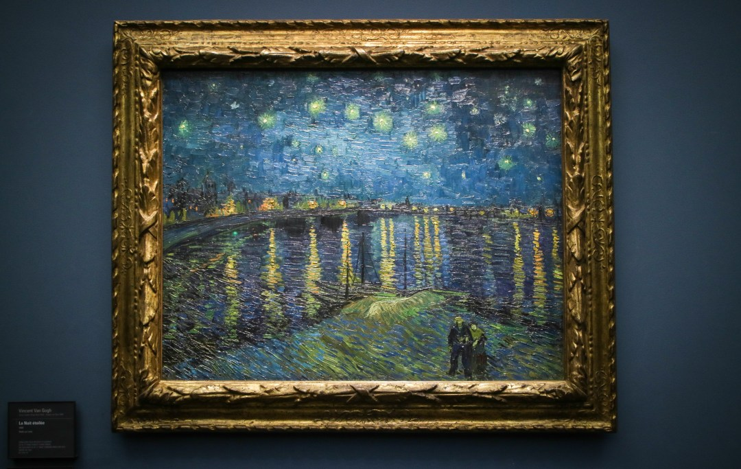Notte stellata, Van Gogh, Museo d'Orsay