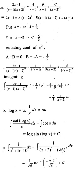 Plus Two Maths Chapter Wise Questions and Answers Chapter 7 Integrals 56