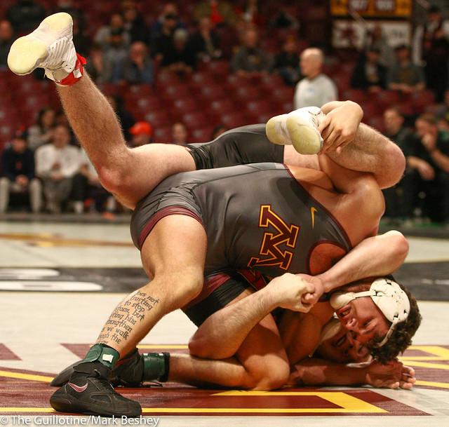 Cons. Round 1 - Brandon Krone (Minnesota) 9-14 won by major decision over Kyle Jasenski (Maryland) 10-17 (MD 13-2) - 1903amk0435