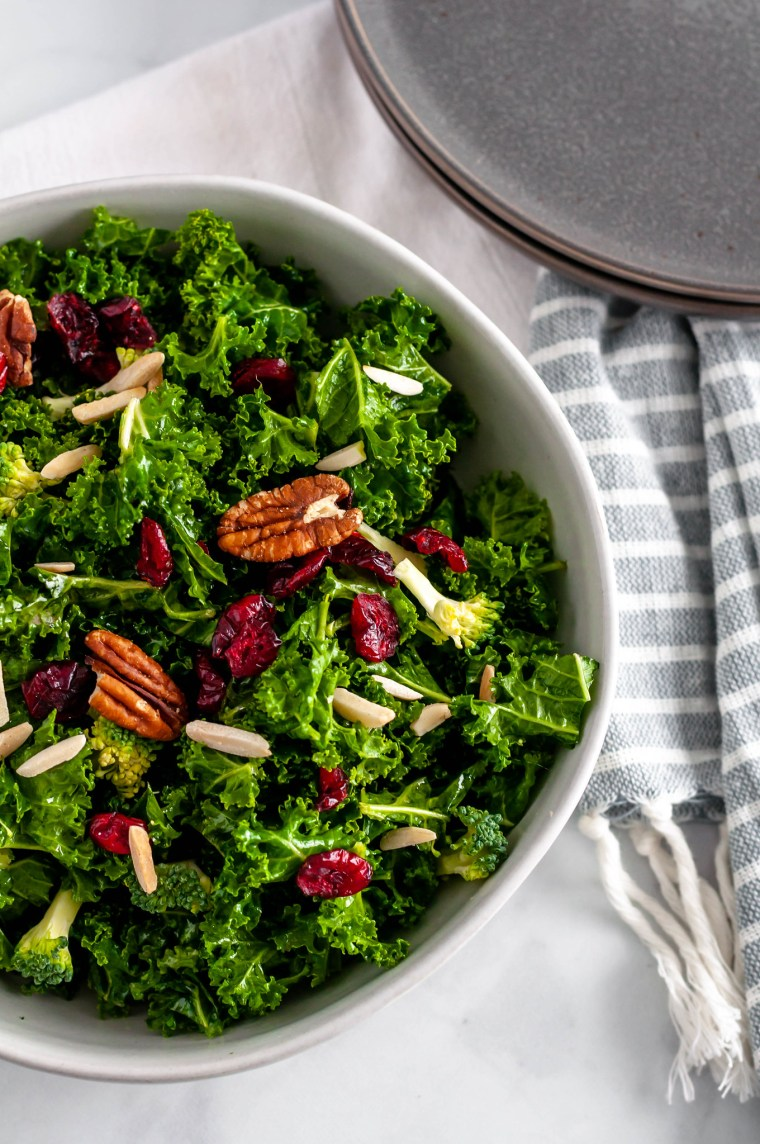 This Copycat Chick-fil-A Superfoods Salad is so simple to make and tastes so similar to the restaurant version but healthier. Perfect for clean eating.