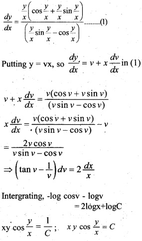 Plus Two Maths Chapter Wise Questions and Answers Chapter 9 Differential Equations 66