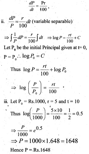Plus Two Maths Chapter Wise Questions and Answers Chapter 9 Differential Equations 67