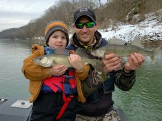 Father and son with Walleye.