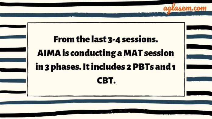MAT 2019 conducts three times in a session