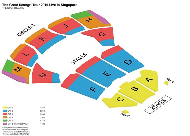 THE GREAT SEUNGRI TOUR 2019 LIVE IN SINGAPORE SEATING PLAN