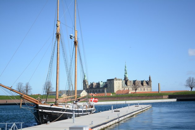 Kronborg Castle in the distance
